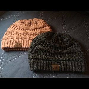 Pack of Two C.C. Beanies